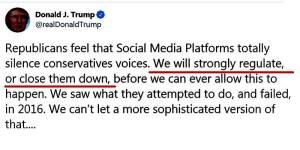 trump medios.jpgfit800400ssl1 - Trump se lanza contra Twitter, amenaza con cerrar redes sociales
