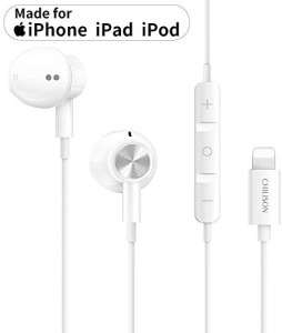 Chilison - Auriculares estéreo con cable para iPhone, auriculares con control de volumen compatible con iPhone 11/11 Pro/iPhone X/XS/XS Max/XR iPhone 8/8 Plus/7/7 Plus/iPhone 6/6 Plus/iPad/iPod