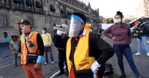artistas urbanos inician marcha desde el zxcalo a la secretarxa del trabajo crop1594660113987.png 673822677 - Artistas urbanos inician marcha desde el Zócalo a la Secretaría del Trabajo