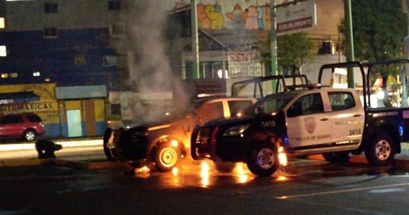 durante la madrugada se registrx el incendio de patrullas en naucalpan crop1594053528401.jpg 673822677 - Durante la madrugada se registró el incendio de patrullas en Naucalpan