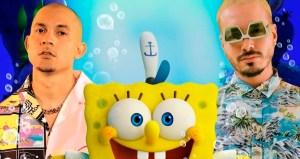 """f9b0fe1663beb8b81156a7ddcba893327a1b2cd9 - J Balvin y Tainy se sumergen en el mundo de Bob Esponja con """"Agua"""", el tema de la próxima película"""
