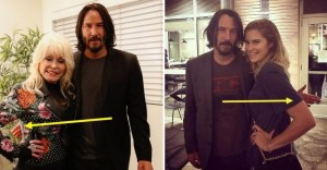 keanu reeves no toca a las mujeres - Keanu Reeves nunca toca a las mujeres que le piden fotos. Intenta alejar las manos unos centímetros