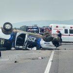 volcadura guanajuato - Mueren cuatro policías de Guanajuato en volcadura