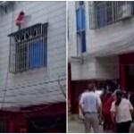 nina en china - VIDEO: Niña de 4 años cae por ventana de un edificio en China; vecinos la atrapan y le salvan la vida