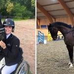 chica joven piernas equitacion - Perdió sus piernas en un accidente automovilístico, pero no se rindió. Hoy es campeona de equitación