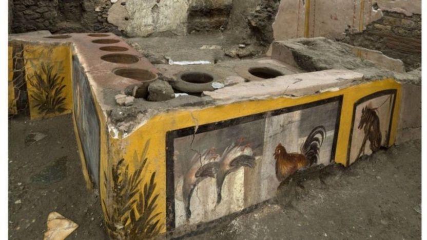 """116263204 tv064953964 - El extraordinario hallazgo de un puesto de """"comida rápida"""" en Pompeya"""