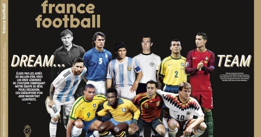 balon oro team - Maradona, Pelé, Xavi, Messi, CR7 y Ronaldo son elegidos en el Balón de Oro al mejor equipo de la historia