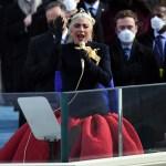000 8Z78AU - Lady Gaga interpretó el himno nacional de los EEUU durante el acto de investidura de Joe Biden