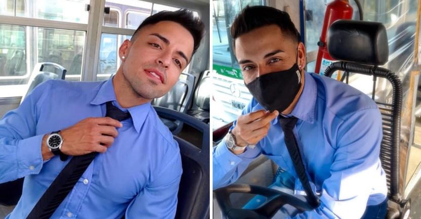 66 argentina bus colectivero transporte patagonia sexy - Chofer de bus argentino roba el corazón de sus pasajeras. Es víctima de muchos piropos al trabajar