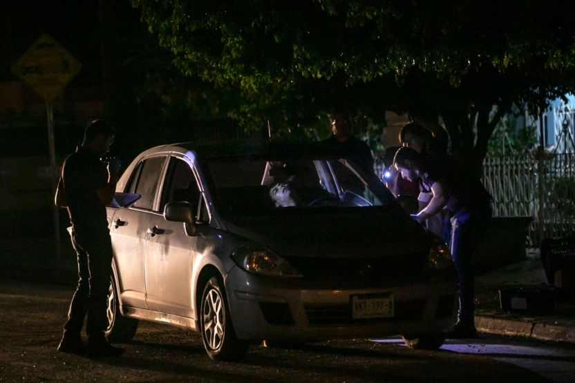 Escena crimen méxico - Matan con 16 balazos a santero cuando terminaba de cenar hamburguesas