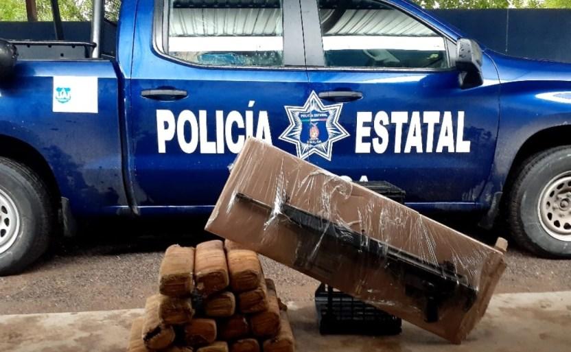 aseguran marihuana y un arma en la sierra de choix sinaloa.jpg 242310155 - Elementos de BOMU aseguran marihuana y un arma en Choix, Sinaloa
