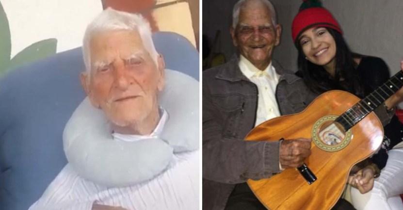 carlos julio rincon garzon 110 colombia001 - Hombre colombiano de 110 años espera que la pandemia termine para ver a sus nietos. Los extraña