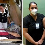 enfermera dormia coche vacuna covid 19 - Enfermera mexicana que dormía en su camioneta es vacunada contra el COVID-19. Estará más tranquila