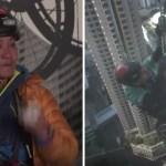 escalador silla ruedas - Hombre parapléjico escala rascacielos de 300 metros en Hong Kong. Se olvidó de su discapacidad