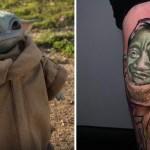 manzanero yoda - Cliente pidió a un tatuador un diseño que una a Baby Yoda con Armando Manzanero. Dos pasiones juntas