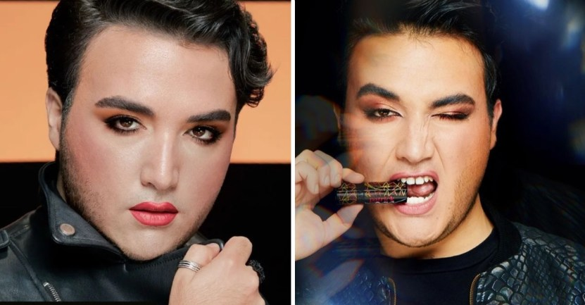 maquillaje hombre 2 - Avon breaks down gender stereotypes and uses male models to promote their makeup. Makeup's no longer just for women.