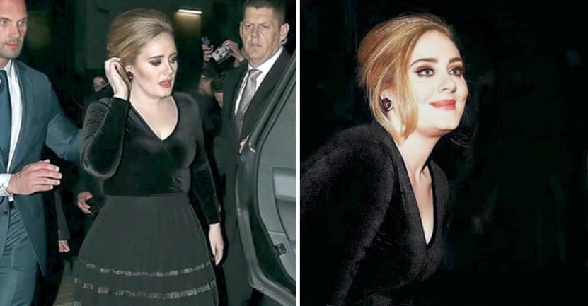 portada adele detila elegancia usando blusa terciopelo negro falda plisada - Adele destila elegancia usando una blusa de terciopelo negro y falda plisada. A ella le combina todo