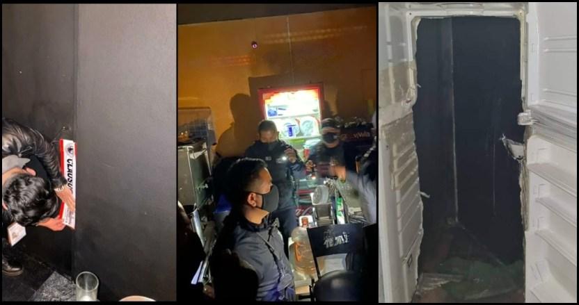 refri pachuca - Bar es clausurado por operar de forma clandestina en Pachuca; clientes entraban por refrigerador falso