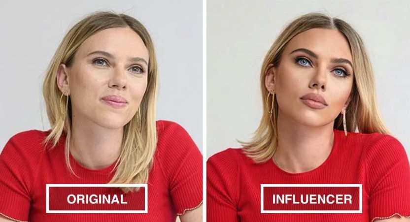 """famosas estandar influencer - 22 famosas según los estándares de belleza de las influencers. Megan Fox luce aún más """"perfecta"""""""