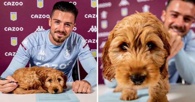 futbolista perro contrato - Futbolista llevó a su perro para la firma de su contrato. Está con él en los momentos especiales
