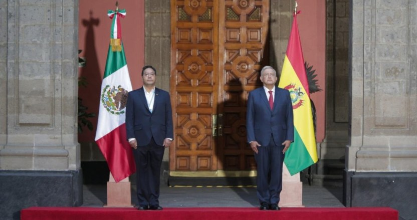 """luis alberto arce y amlo en palacio nacional - """"Nunca lo voy a olvidar"""", dice el Presidente de Bolivia. Agradece a México y a AMLO haberlo asilado"""