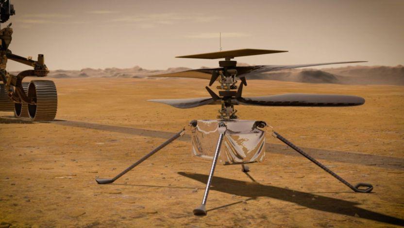 Helicopter Mars NASA pia23720 1041 - La NASA invita al público a volar por Marte con el helicóptero Ingenuity