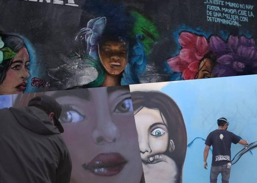 PhotoCollage 1618620446553 scaled - Con murales en el Edomex buscan combatir la violencia contra la mujer