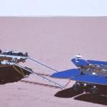 sonda china marte - La sonda china rueda sobre la superficie de Marte por primera vez