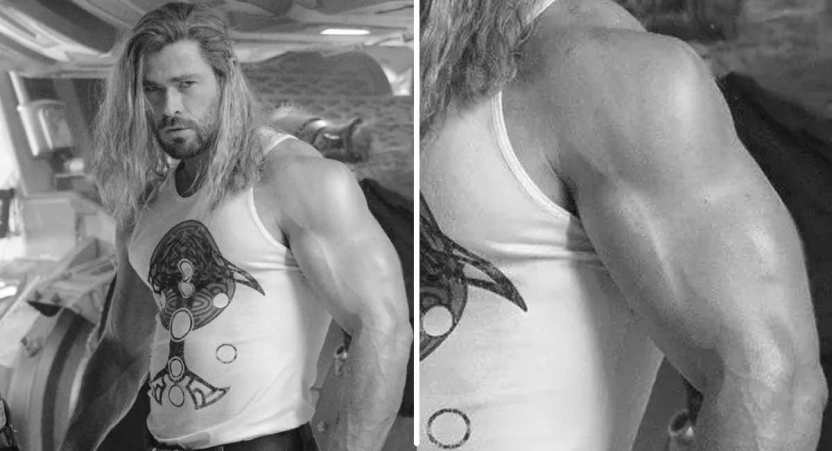 chris hemsworth brazos - Chris Hemsworth publicó una foto presumiendo su brazo tan musculoso que creemos que no es humano