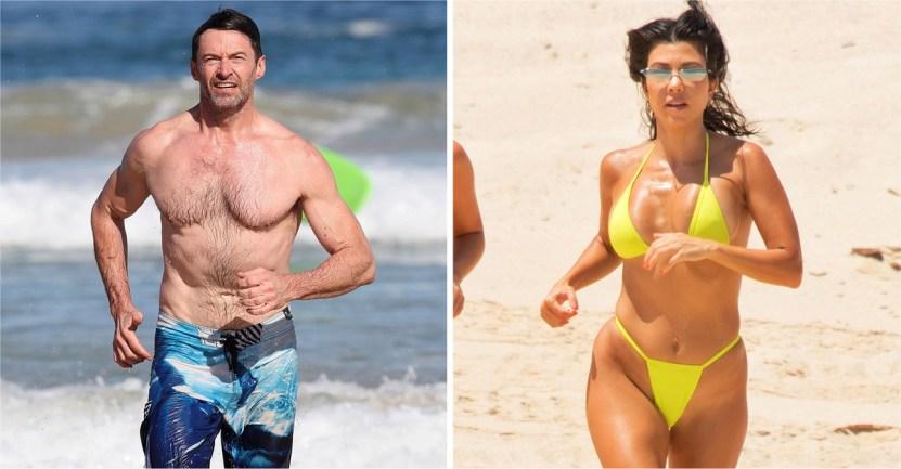 famosos playa - 12 veces que los famosos se olvidaron de las cámaras y se ejercitaron en medio de la playa