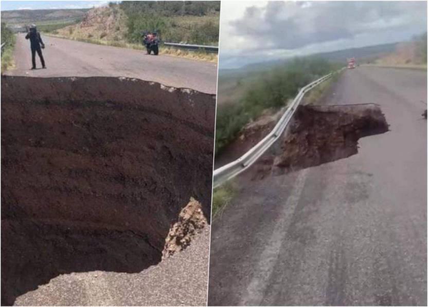 Socavon chihuahua 1024x736 - Aparece nuevo socavón, ahora en Chihuahua