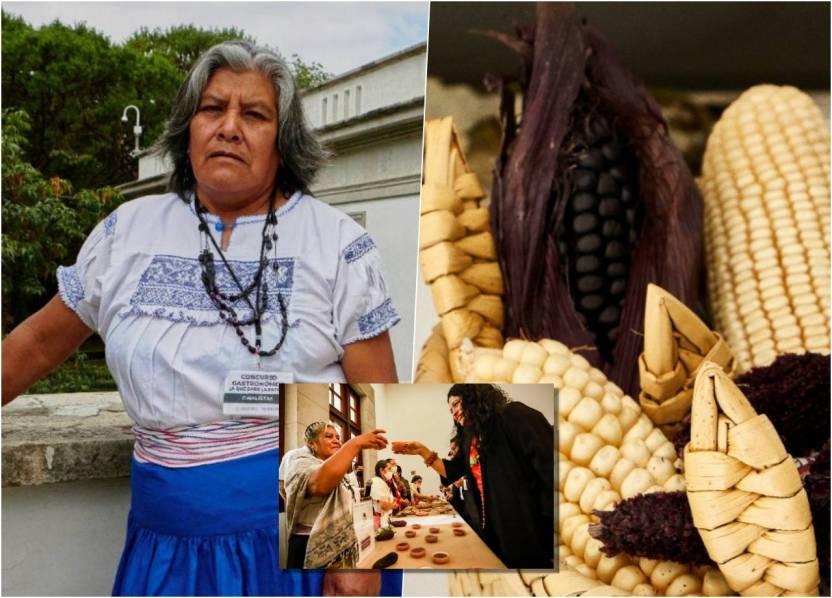 cocinera indigena maiz morado atole - Cocinera indígena gana concurso de los mejores platillos mexicanos
