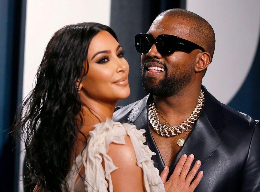 kanye kim - El apoyo sigue intacto: Kim Kardashian en el lanzamiento del nuevo disco de Kanye West