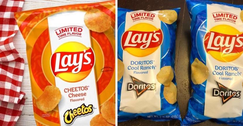 portada lays sabores - Lay's endiabla sus papas con edición limitada sabor a Cheetos y Doritos. Para ensuciarse los dedos