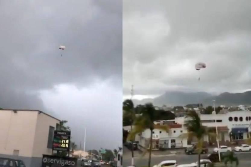 Diseño sin título 13 - Video: Turista aterriza en cableado tras romperse su paracaídas en Puerto Vallarta