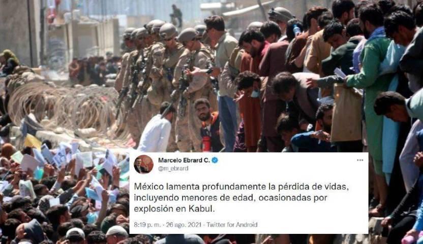 ebrard explosion kabul  - México lamenta pérdida de vidas por explosiones en Kabul: Ebrard+