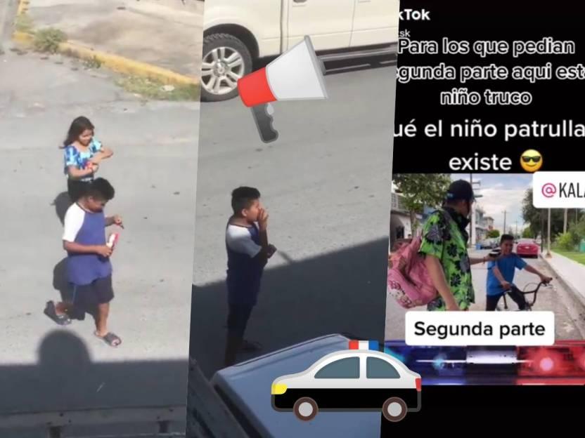 nino patrulla viral - Video: 'Niño patrulla' de Tamaulipas se viraliza en redes
