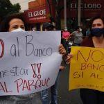 protesta banco bienestar - Vecinos se oponen a construcción de Banco del Bienestar en parque de Coyoacán, CdMx
