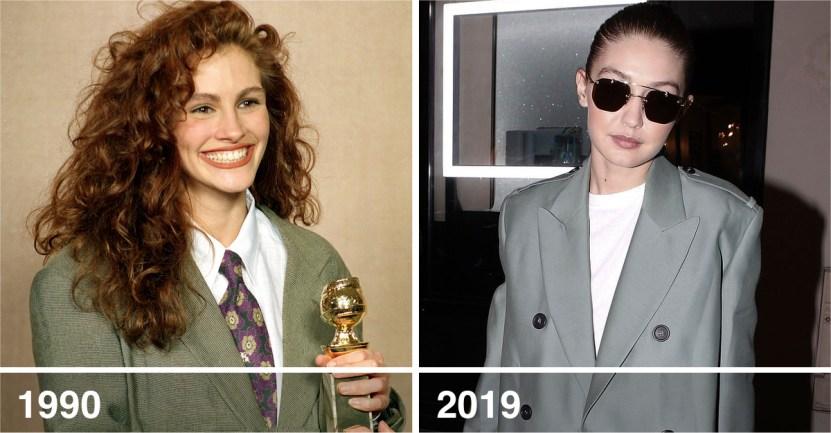 """julia rob - 13 veces que las celebs actuales """"revivieron"""" las famosas tendencias de los 90s"""