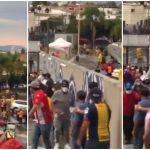 san luis bronca - Aficionados de San Luis y Tigres se enfrentan a las afueras del Alfonso Lastras