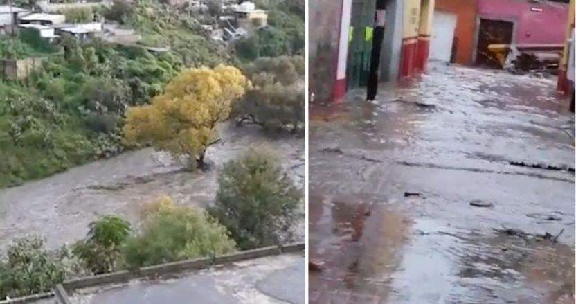 zacatecas - La presa San Aparicio se desborda en Zacatecas; activan Plan DNIII (VIDEOS)