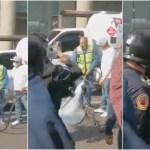 gasero - VIDEO: Gasero es detenido por abrir manguera de pipa ante policías en bloqueo en CdMx