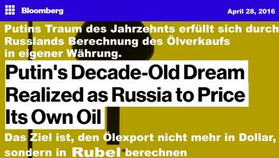 Öl gegen Rubel