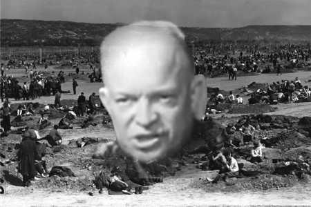 Der jüdische Hasser Eisenhower ließ zwei Millionen wehrloser Soldaten grausam ermorden.