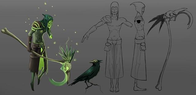 lich undead sketch art concept