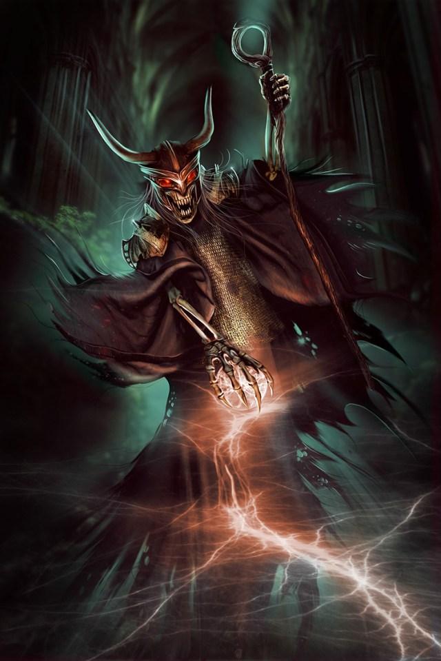lich fantasy warlock undead art illustration
