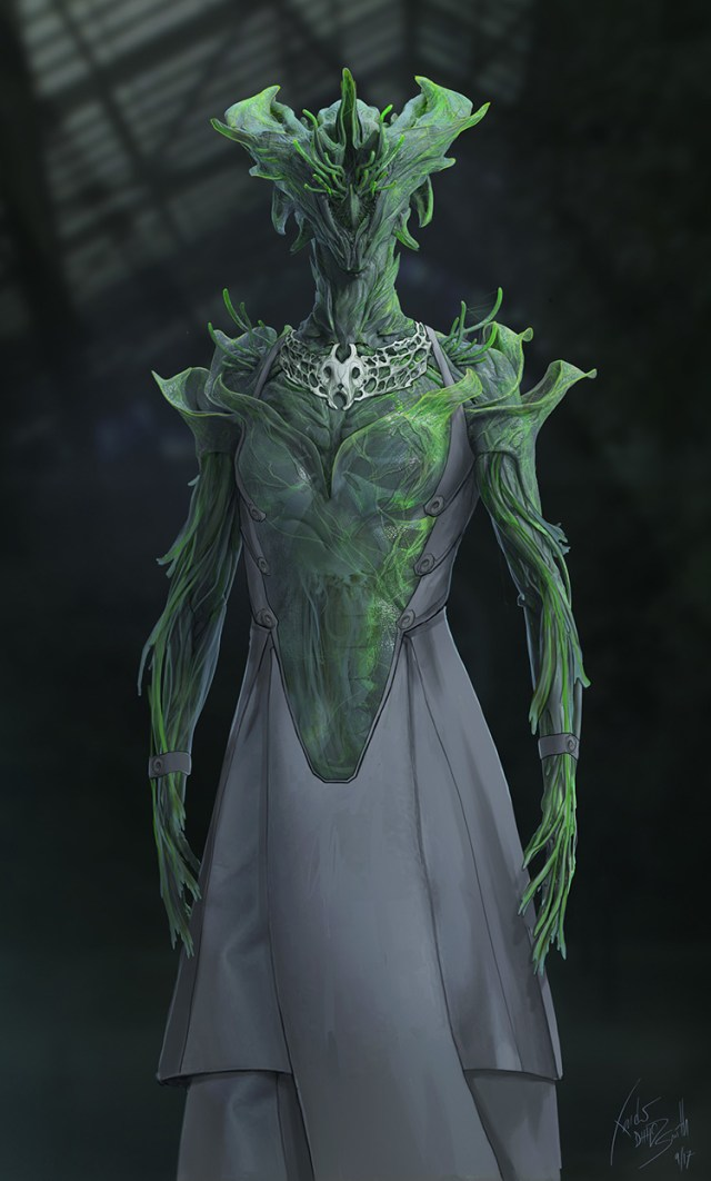 alien character costume dress concept art