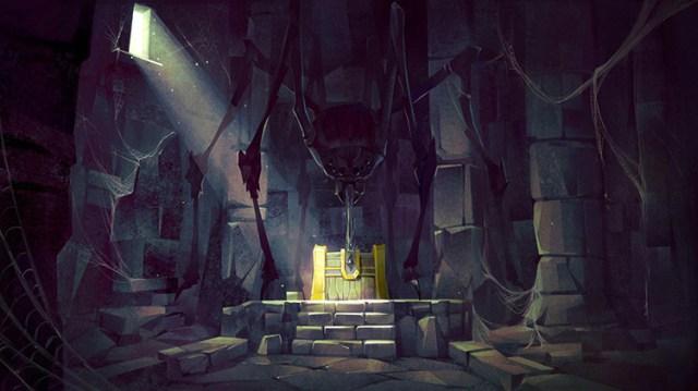 chest treasure dungeon art illustration