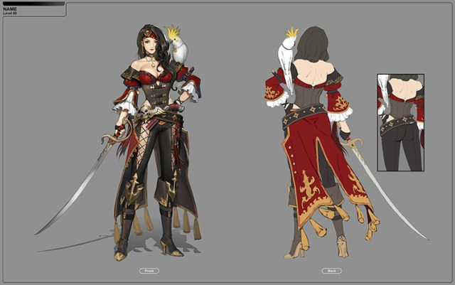pirate female lady character art concept