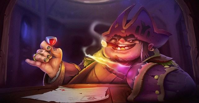 pirate captain fantasy horn character art illustration